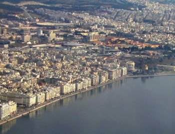 Greece City Of Thessaloniki Aerial View